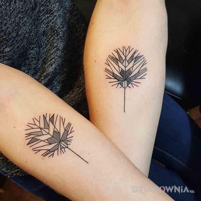 Tatuaż dmuchawce w motywie miłosne i stylu minimalistyczne na przedramieniu