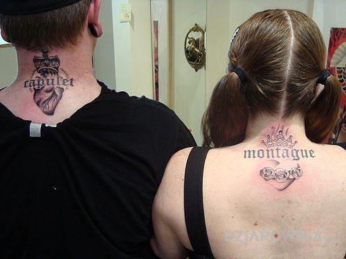 Tatuaż capulet and montague - miłosne