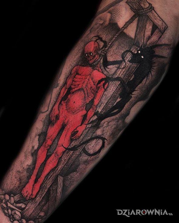 Tatuaż mrok tylko mrok - demony