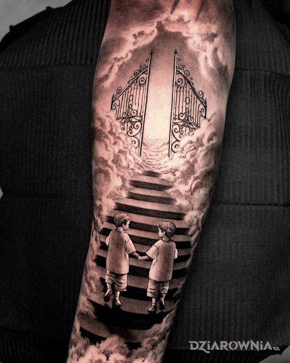 Tatuaż schody do nieba - postacie