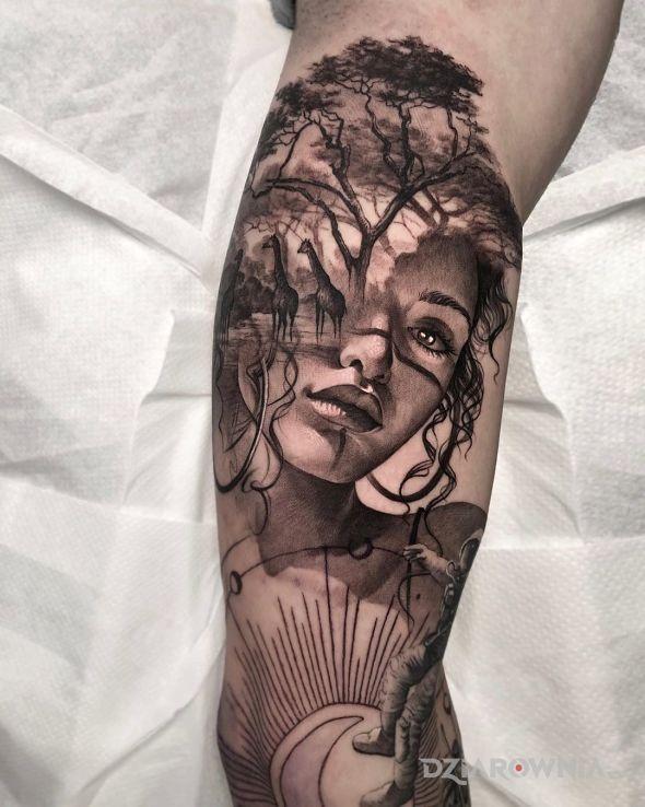 Tatuaż safari w głowie - twarze