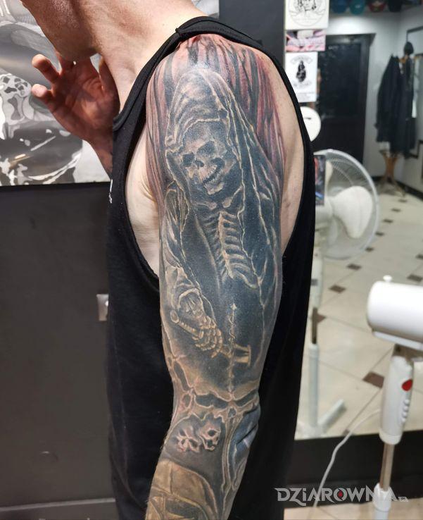 Tatuaż cd 2 rękawa - cover up