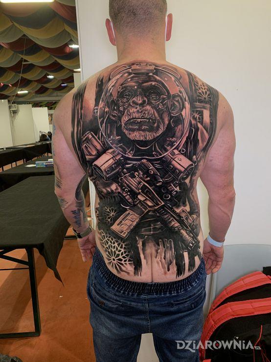 Tatuaż tattoo expo rome 2020 - zwierzęta