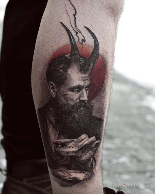 Tatuaż mefistoteles - twarze
