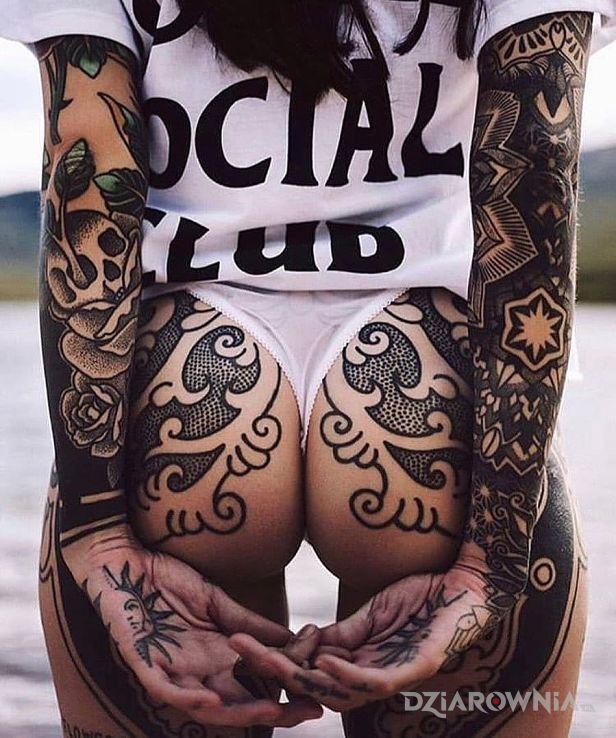 Tatuaż azfaf - smoki