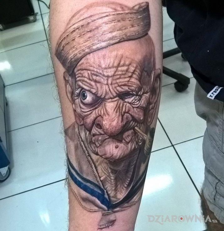 Tatuaż popeye - realistyczne