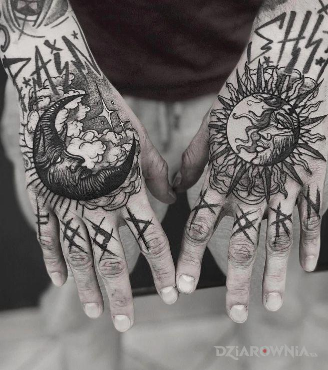 Tatuaż księżyc i słońce - pozostałe