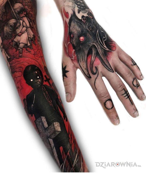 Tatuaż omen - demony