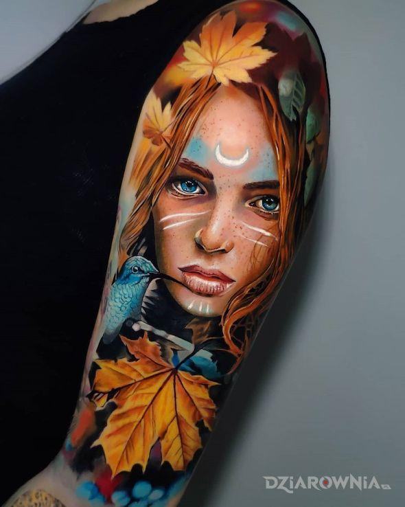 Tatuaż jesień - zwierzęta