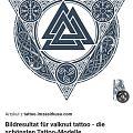 Pomysł na tatuaż - Valknut na piersi