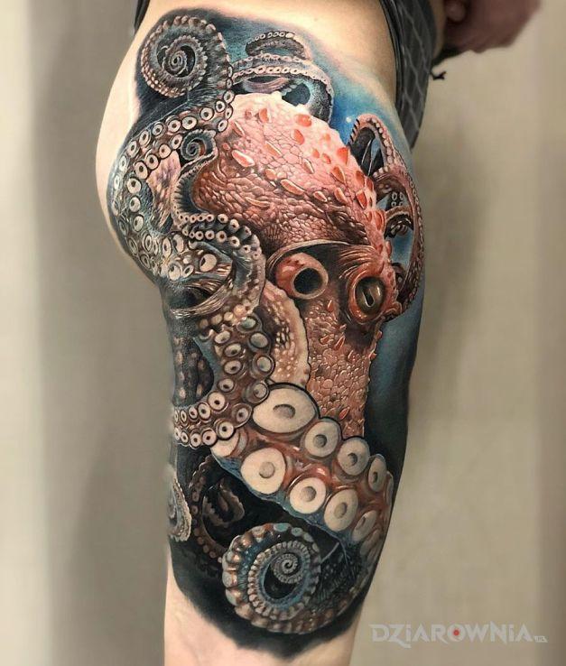 Tatuaż ośmiornica - zwierzęta