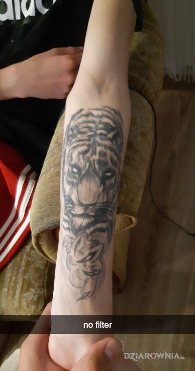 Tatuaż tygrys - zwierzęta