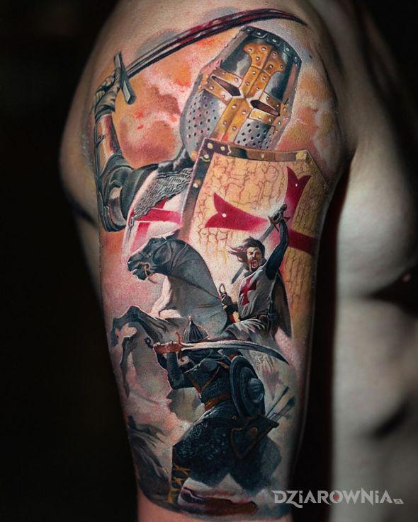 Tatuaż templariusz - postacie