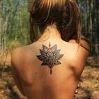 Kwiat na plecach