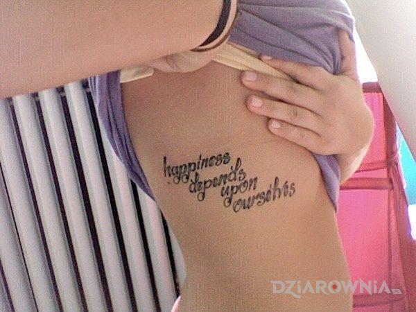 Tatuaż Napis Na Boku Autor Czarodziej Dziarowniapl