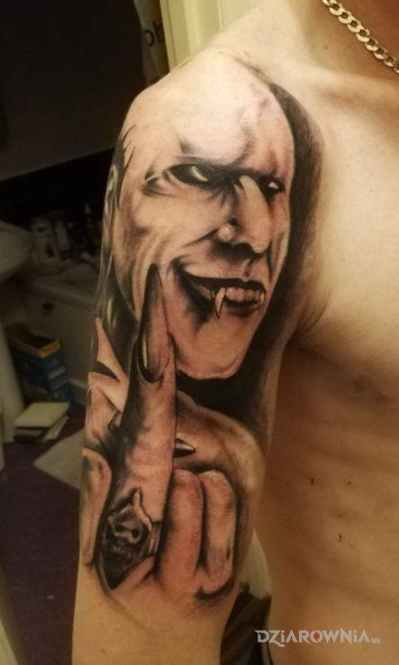 Tatuaż mieszany - demony