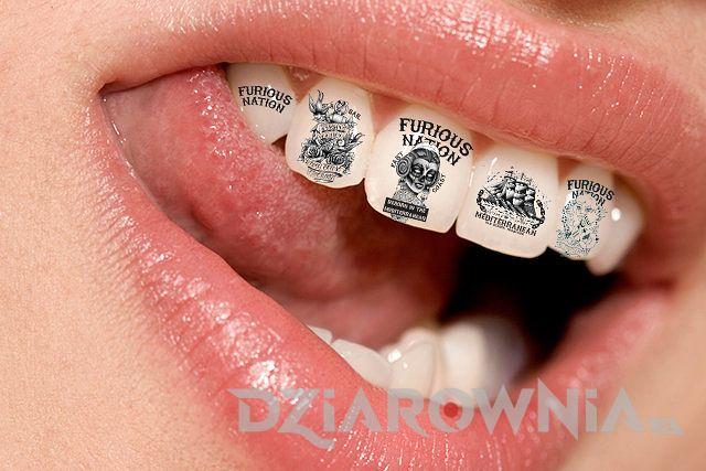 tatuaż na zębie