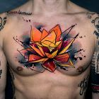 Intensywny kwiat lotosu