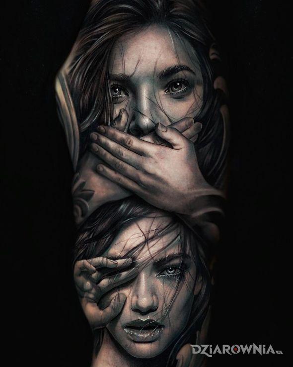 Tatuaż piękna dziewczyna - twarze
