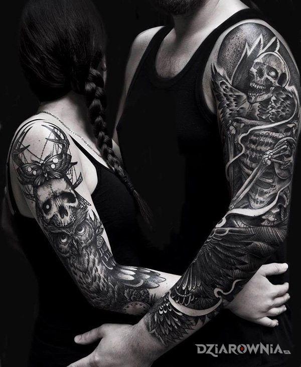 Tatuaż Rękaw U Kobiety I Faceta Autor Sentinel