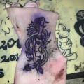 Tatuowanie na sztucznej skórze - Pierwsze wzory na świńskiej