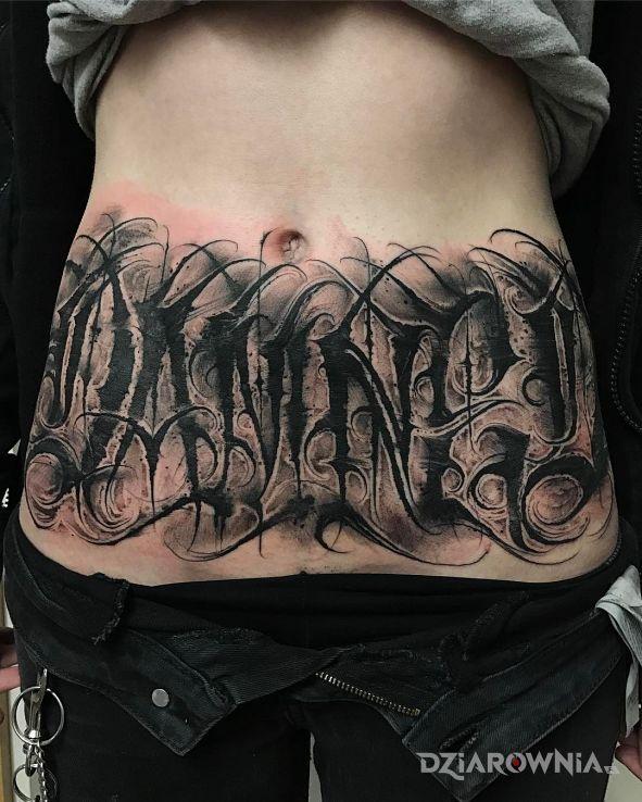 Tatuaż damed - criminal lettering