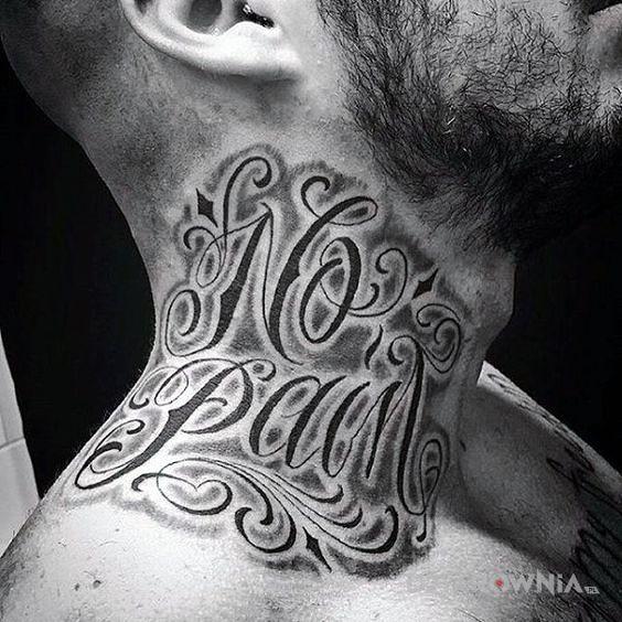 Tatuaż no pain - napisy