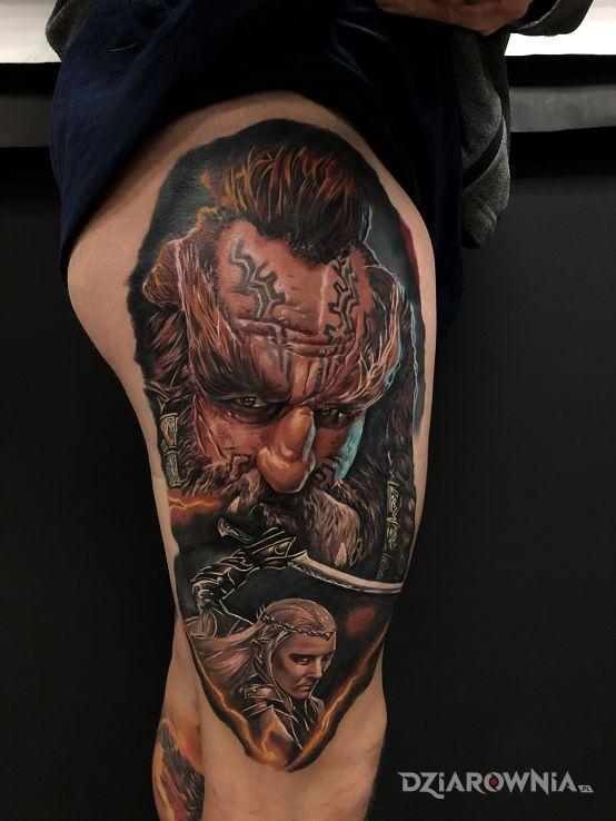 Tatuaż dain - twarze