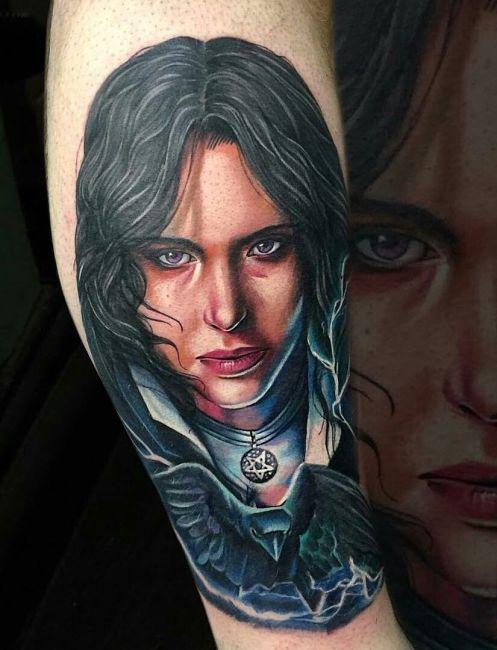 tatuaż Yennefer