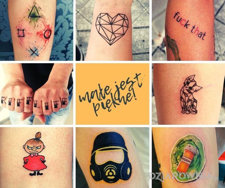 Tatuaż mały tatuaż to również tatuaż w motywie kolorowe i stylu graficzne / ilustracyjne na przedramieniu