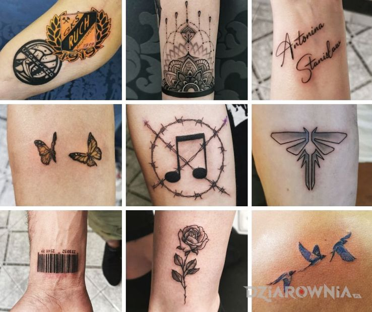 Tatuaż małe szczęścia w motywie mandale i stylu graficzne / ilustracyjne na nadgarstku