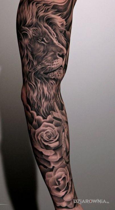 Tatuaż Majestatyczny Lew Autor Lee Dziarowniapl