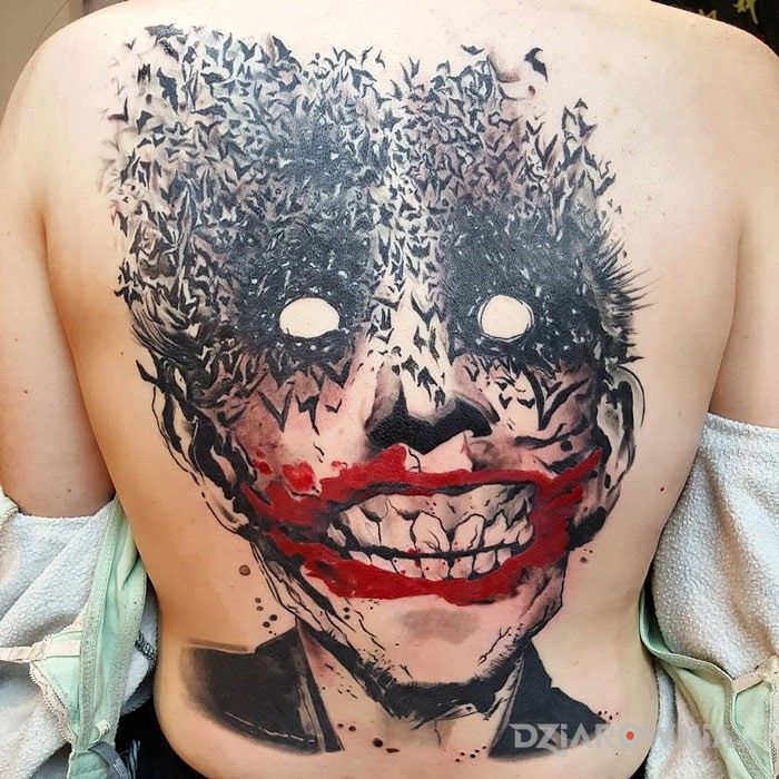 Tatuaz Joker Autor Cinek Dziarownia Pl