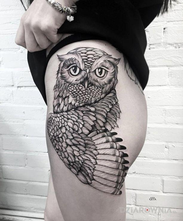 Tatuaż Sowa Autor Nieznajomy Dziarowniapl