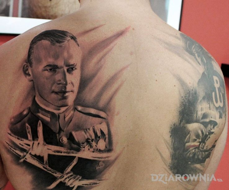Tatuaż witold pilecki - patriotyczne