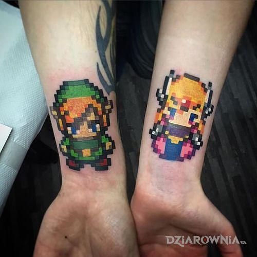 Tatuaż jeszcze jedna zelda w motywie miłosne na nadgarstku
