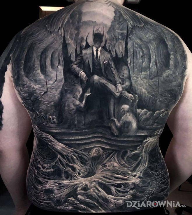 Tatuaż diabeł w garniturze - demony