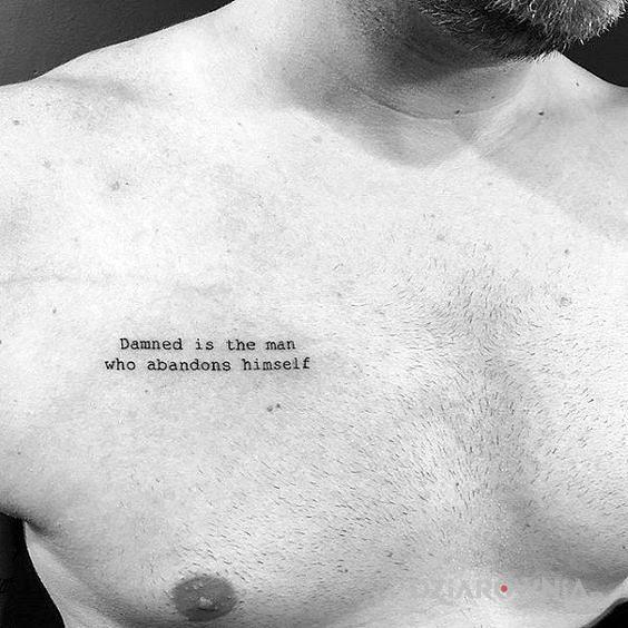 Tatuaż kiedy człowiek zostaje przeklęty - napisy