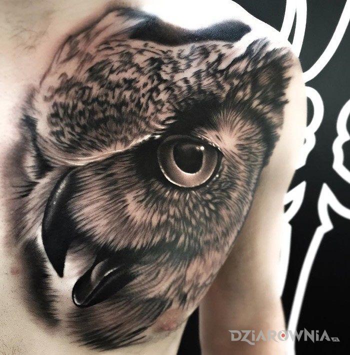 Tatuaż Realistyczna Sowa Autor Gibonyou Dziarowniapl