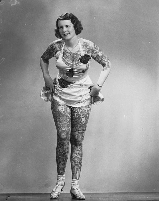 Betty Broadbent i tatuaże