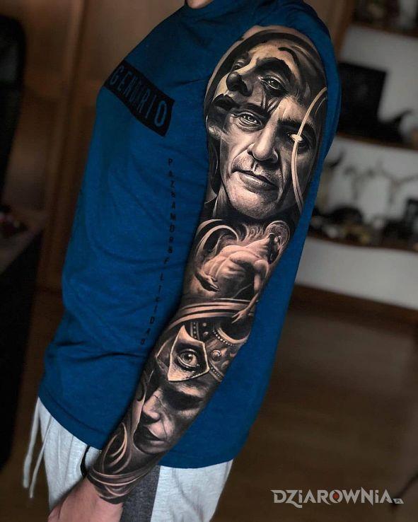 Tatuaż portret jokera i nie tylko w motywie 3D i stylu realistyczne na przedramieniu