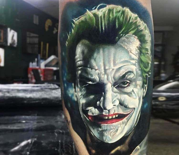 tatuaż joker nicholson