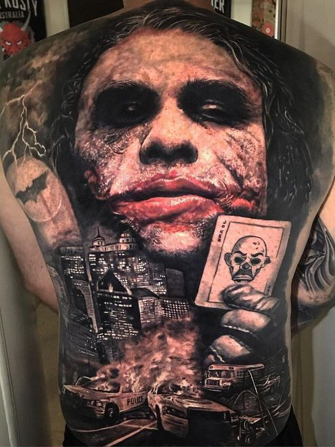 tatuaż joker ledger