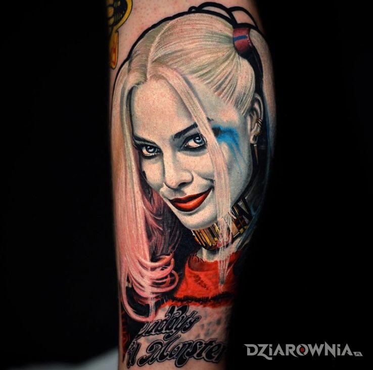 Tatuaż Harley Quinn Autor Sasha Dziarowniapl