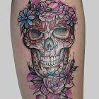 Kolorowa czaszka