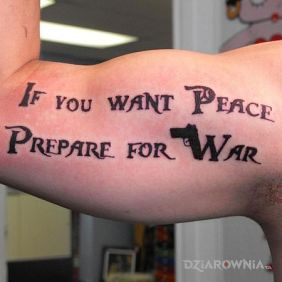 If you wan't peace prepare for war