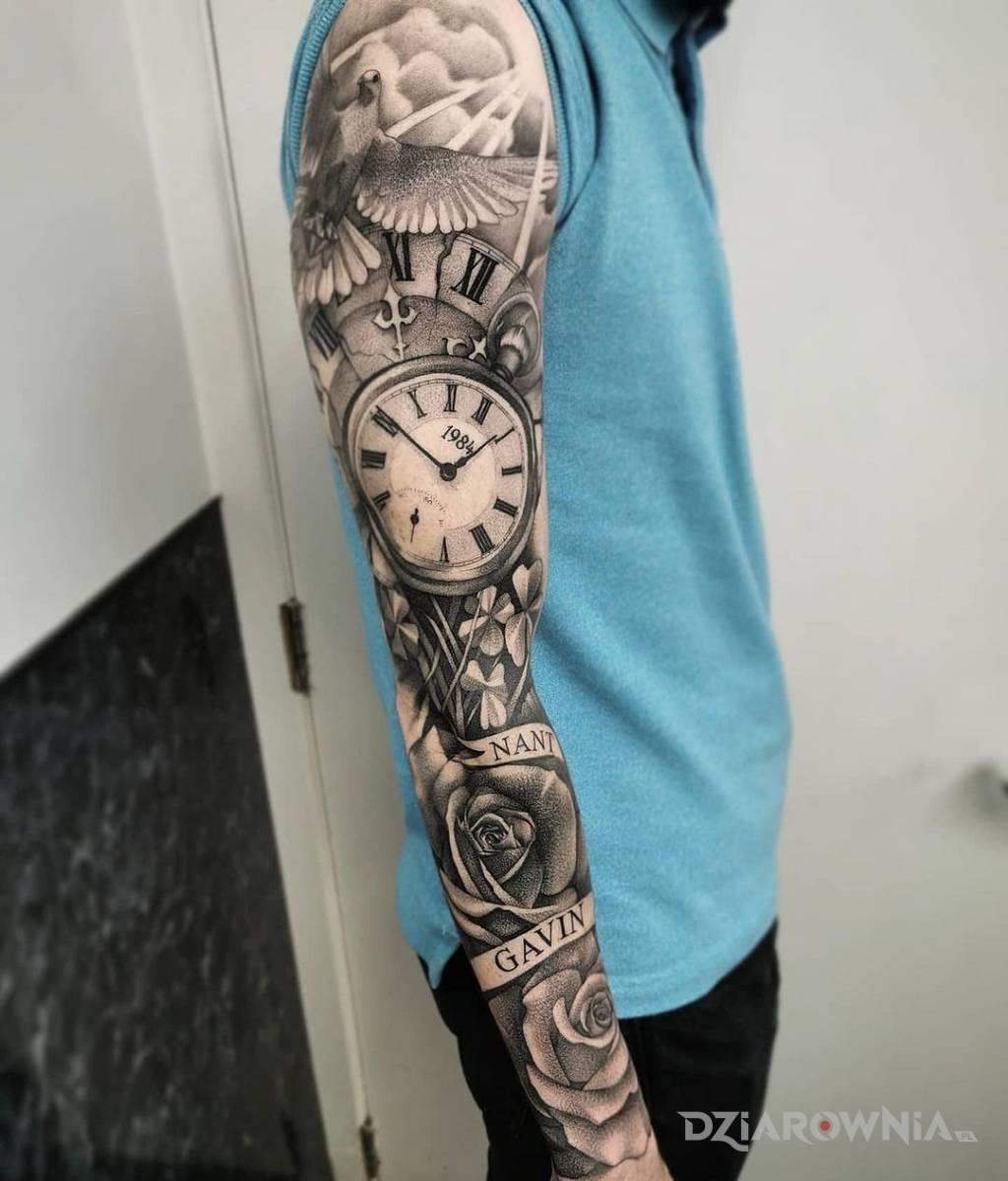 Tatuaze Zegar Wzory I Galeria Dziarownia Pl