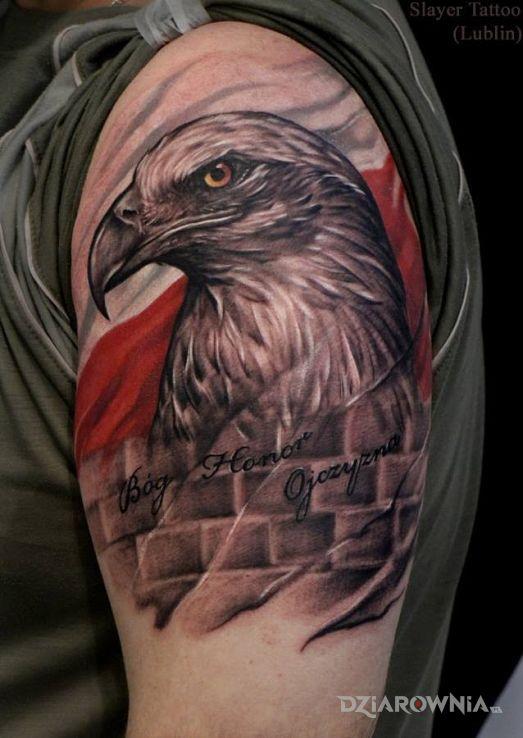 Tatuaż Bóg Honor Ojczyzna Autor Kondzimir Dziarowniapl