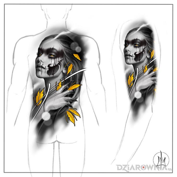 Wzór piękny wzór na plecy lub ramię od maciej lubi - graficzne / ilustracyjne