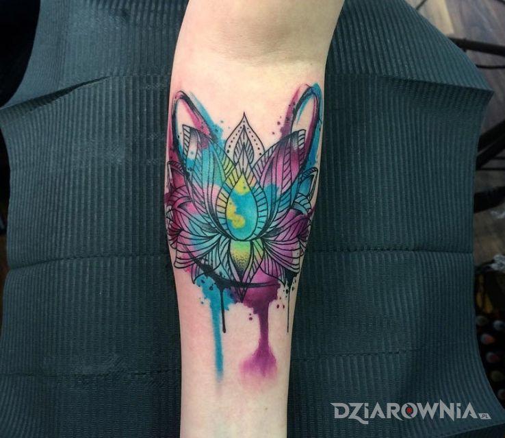 Tatuaż Kwiat Lotosu Autor Nieznajomy Dziarowniapl